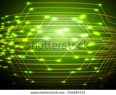 Dark green Light Abstract Technology background for computer graphic website and internet.