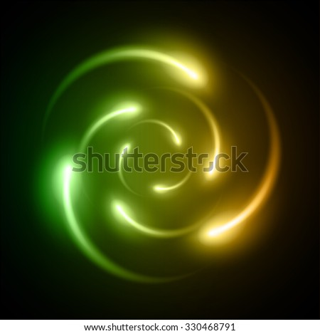 dark green orange Light Abstract Technology background for computer graphic website internet and business. illustration. infographics.binary code vector.Spark.molecule atom electron neutron nuclear. - stock vector