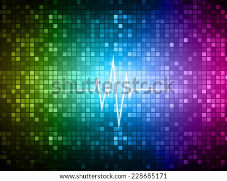 Dark green pink blue pulse Light Abstract Technology background for computer graphic website and internet. pixels background.