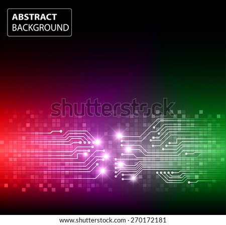 dark green purple red color Light Abstract Technology background for computer graphic website internet and business. circuit. vector illustration. card. text box. label. banner. star - stock vector