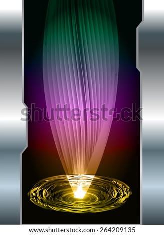 dark green yellow purple color Light Abstract Technology background for computer graphic website internet and business. circuit. silver background. spiral, braid