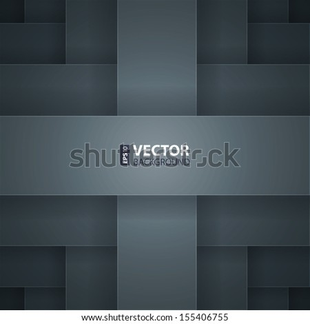 Dark grey paper layers abstract vector background. RGB EPS 10 vector illustration