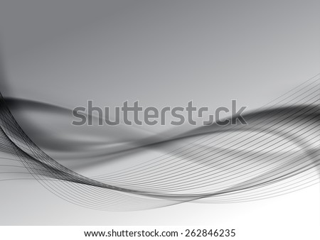 Dark halftone abstract modern swoosh wave layout background. Vector illustration