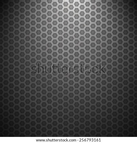 Dark Hexagon Grid Vector Texture
