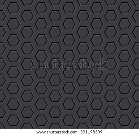 dark hexagon seamless background - stock vector