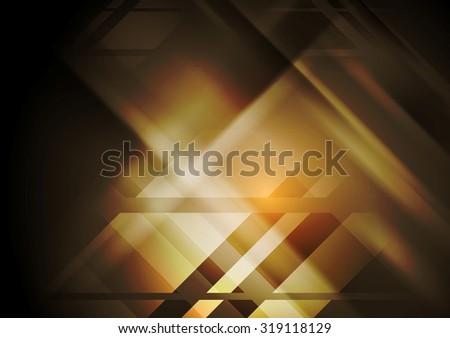 Dark hi-tech geometric abstract background. Vector design - stock vector