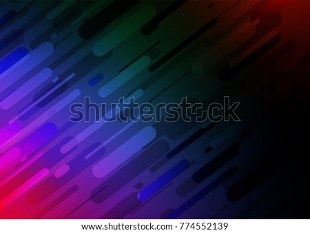 Dark Multicolor, Rainbow vector doodle blurred background. Brand-new colored illustration in blurry style with doodles. The pattern can be used for wallpapers and coloring books.