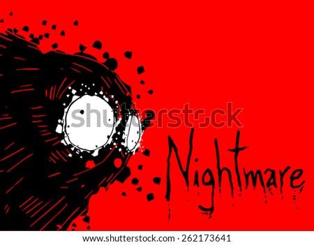 Dark nightmare illustration - stock vector