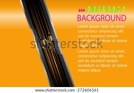 dark orange color Light Abstract Technology background computer graphic website internet and business. circuit. vector illustration. text box. Brochure. card. banner flyer magazine. Design label.