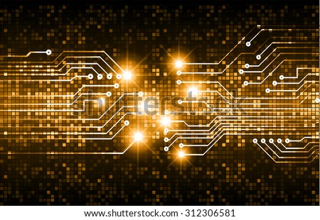 dark orange color Light Abstract Technology background for computer graphic website internet and business. circuit. vector illustration. abstract. infographics. motion move blur.neon. - stock vector