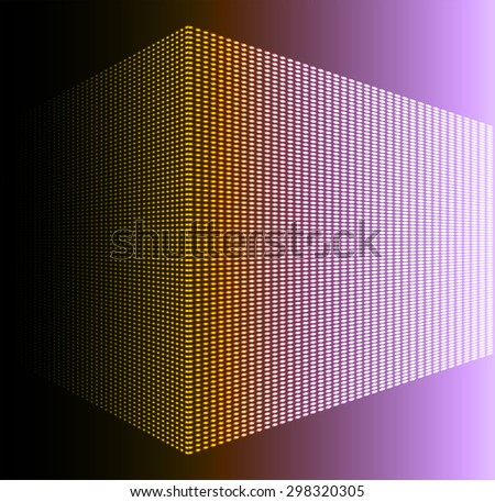 Dark orange purple Abstract light lamps background for Technology computer graphic website internet and business.. Screen on stage. Vector illustration. Spot Effect. neon. point. dot - stock vector