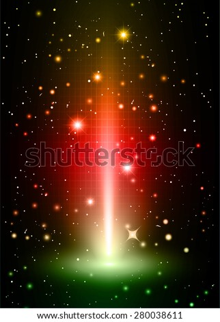 Dark orange red green light Abstract background, rays. stage. infographics. star. Light Technology background for computer graphic website internet and business. vector illustration - stock vector