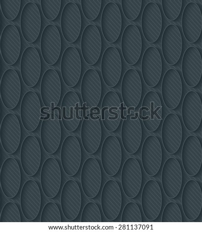 Dark perforated paper with outline extrude effect. 3d seamless wallpaper. Vector EPS10 full editable background. See others in My Perforated Paper Sets. - stock vector