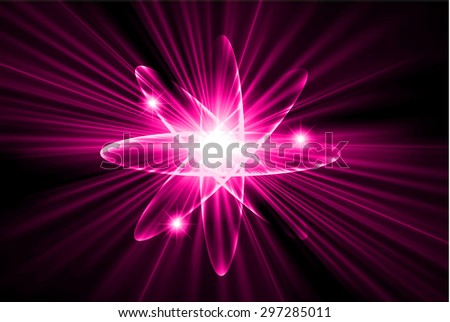 Dark pink color Light Abstract Technology background for computer graphic website internet.circuit. vector illustration.Nuclear,proton,neutron,nucleus. atom. molecular.Spark ray beam aura - stock vector