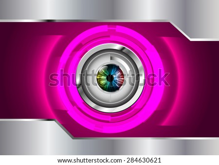dark pink silver color Light Abstract Technology background for computer graphic website internet and business. circuit. vector illustration. infographics. silver. eye eyeball.