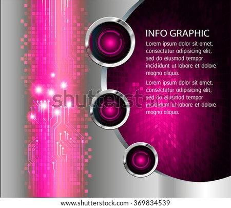 Dark pink silver Web Design Website Elements Template for graphic internet. text box. label. infographics. metal. card. pixel. Metals, alloys, steel, aluminum. button cyber