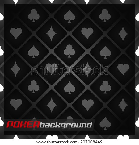 Dark poker background with card symbol/vector illustration