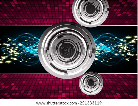 Dark purple black blue color Light Abstract Technology background for computer graphic website internet. circuit - stock vector