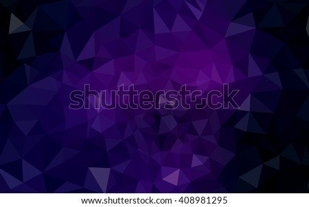 Dark purple polygonal illustration, which consist of triangles. Geometric background in Origami style with gradient. Triangular design for your business. - stock vector