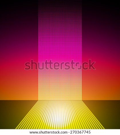 dark purple yellow Abstract light lamps for Technology computer graphic website internet and business. Screen on stage. Vector illustration. Stage Lighting Background with Spot Effect. neon. point - stock vector