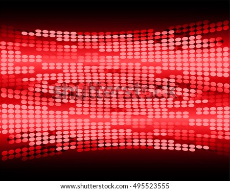 Dark red Abstract light lamps background for Technology computer graphic website internet and business. Screen on stage.Vector illustration.Spot Effect. neon.point, platform, Spotlights