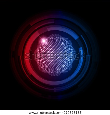 dark red blue color Light Abstract Technology background for computer graphic website internet.circuit. vector illustration. Security. Nuclear, proton, neutron, nucleus. atom. molecular.Spark - stock vector