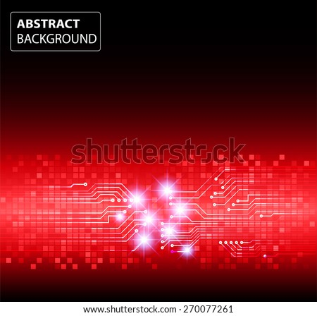 dark red color Light Abstract Technology background for computer graphic website internet and business. circuit. vector illustration. card. text box. label. banner. star - stock vector