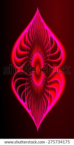 dark red color Light Abstract Technology background for computer graphic website internet and business. black background. - stock vector