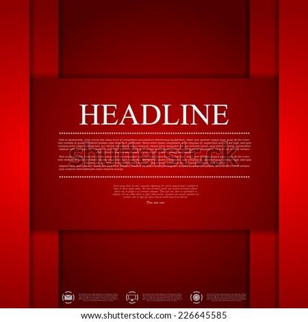 Dark red corporate tech art. Vector background - stock vector