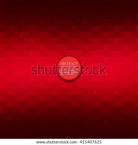 Dark red geometric hexagons illustration graphic background. Vector polygonal design for your business. - stock vector