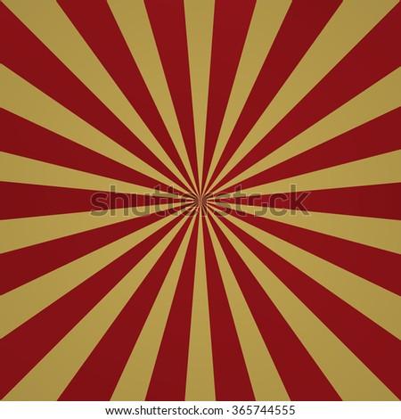 Dark red grunge sunbeam background. Sun rays abstract wallpaper. Vector illustration - stock vector