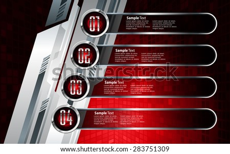 dark red silver Web Design Website Elements Template for graphic internet. text box. label. infographics. metal. card. pixel. Metals, alloys, steel, aluminum. button