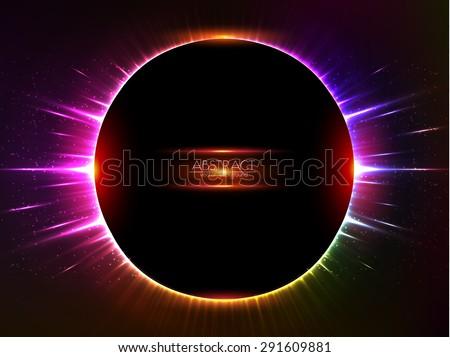 Dark red vector shining cosmic ring - stock vector