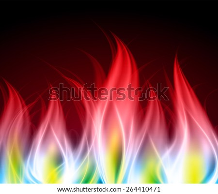 Dark red yellow Abstract fire background.  - stock vector