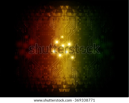 dark red yellow green Light Abstract Technology background for computer graphic website internet and business. circuit. illustration.digital.infographics. binary code. zero one. eye. scan virus vector - stock vector