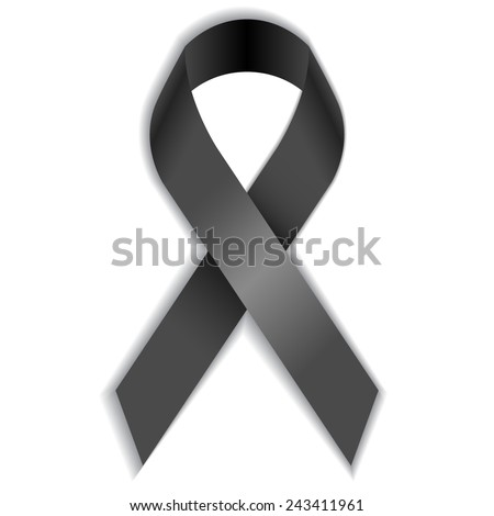 Dark ribbon - stock vector