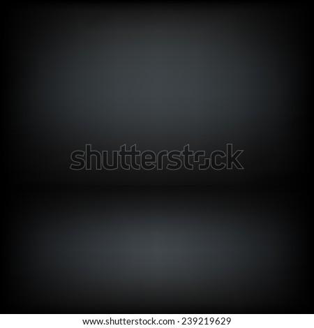 Dark room vector background - stock vector