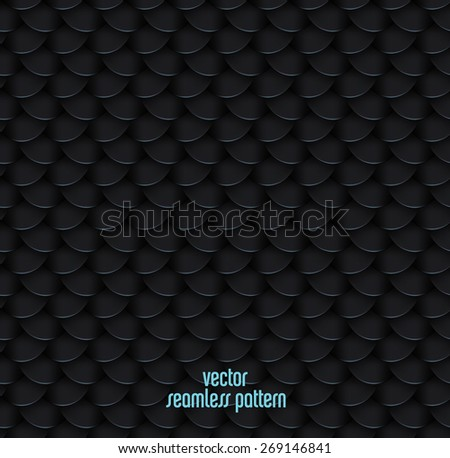 Dark scale texture, High quality vectorseamless  pattern - stock vector