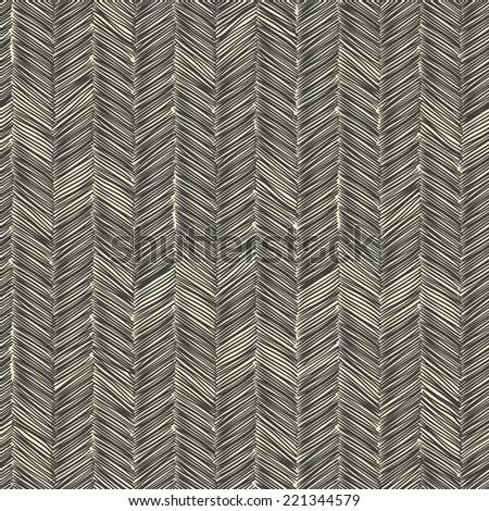 Dark scribble seamless pattern. Vector - stock vector