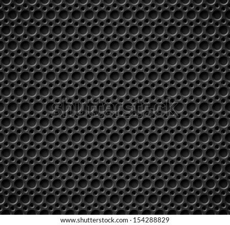 Dark seamless  metallic texture - stock vector