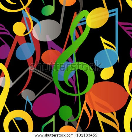 Dark seamless pattern made from colorful tones - stock vector