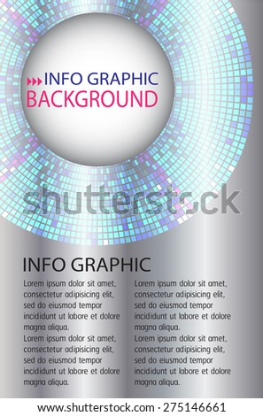 dark silver Light Abstract Technology background computer graphic website internet and business. Circle,mosaics,pixel vector illustration.text box. Brochure. card. banner flyer magazine. Design label. - stock vector