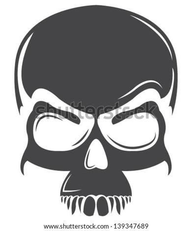 Dark Skull Tattoo Vector - stock vector