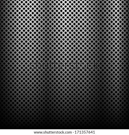 Dark steel background Design - stock vector