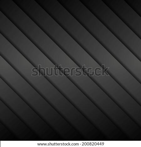 Dark striped background. Vector design - stock vector
