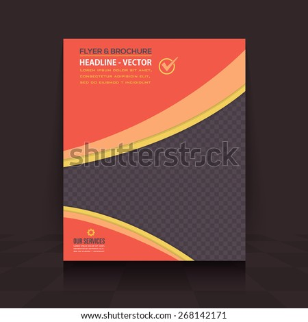Dark Style Simple Business Concept Flyer, Brochure Design. Corporate Leaflet, Cover Template - stock vector