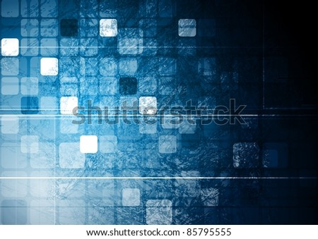 Dark tech background. Vector design eps 10 - stock vector