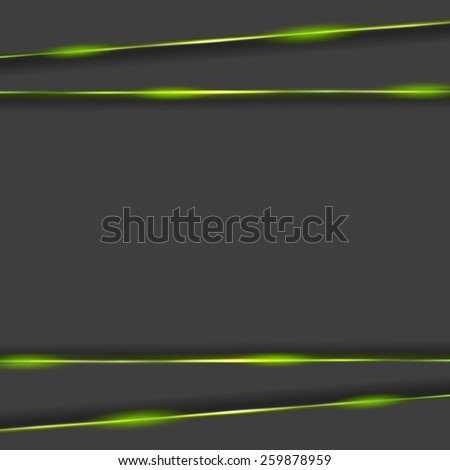 Dark tech background with glowing light. Vector design - stock vector