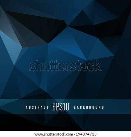 Dark triangle colorful abstract design background template