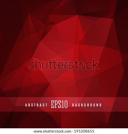 Dark triangle colorful abstract design background template - stock vector